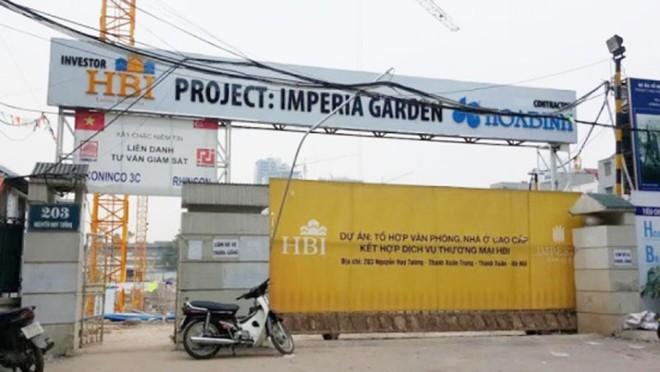 """""""Dự án Imperia Garden có đủ thủ tục pháp lý trước khi mở bán"""""""