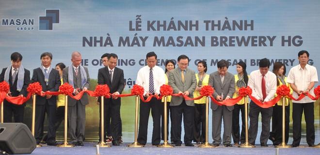 Masan khánh thành nhà máy bia Sư Tử trắng tại Hậu Giang