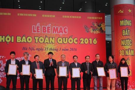 Báo Đầu tư đạt 2 giải tại Hội Báo toàn quốc 2016