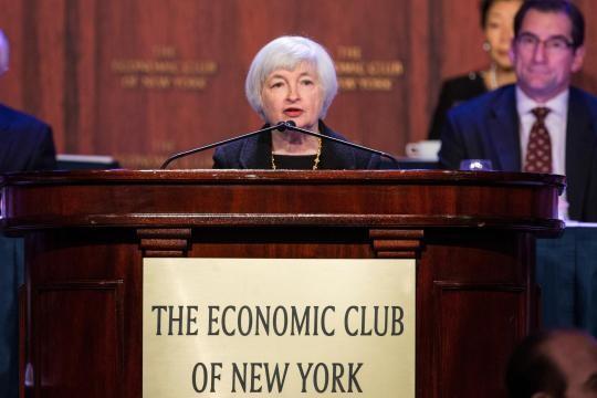 Chủ tịch Fed kéo chứng khoán, giá vàng tăng vọt