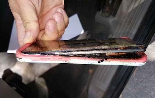 Galaxy Note 7 mới đổi vẫn cháy nổ