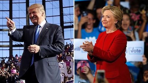 Trang web của Trump và Clinton bị tấn công