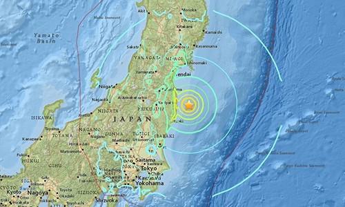 Động đất 7,3 độ Richter, gây sóng thần ở Nhật Bản
