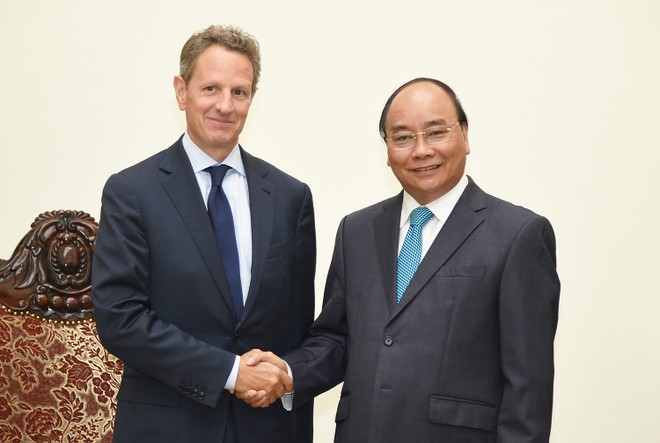 Thủ tướng Nguyễn Xuân Phúc tiếp Chủ tịch Tập đoàn tài chính Hoa Kỳ