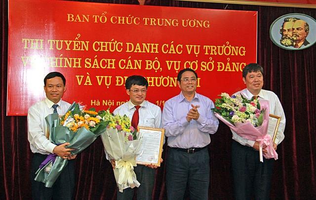 Ba thí sinh trúng tuyển Vụ trưởng của Ban Tổ chức Trung ương