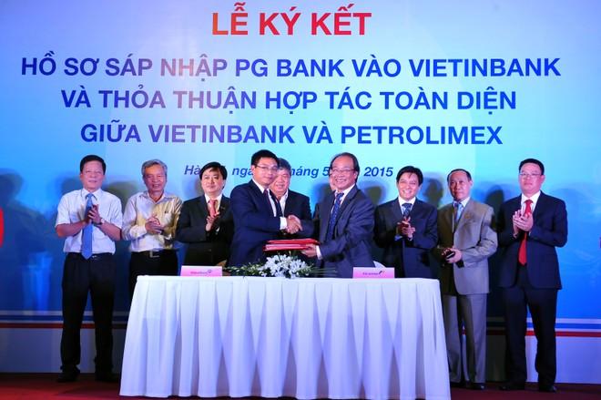 Ký kết hồ sơ sáp nhập PG Bank vào VietinBank