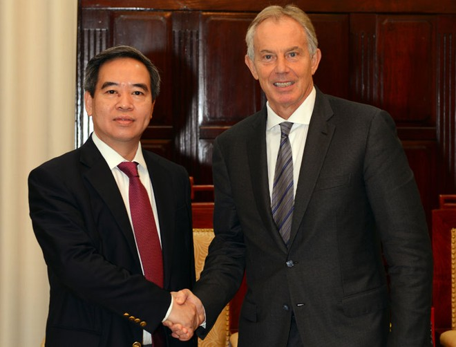 Cựu Thủ tướng Anh Tony Blair đánh giá cao cải cách khu vực ngân hàng của Việt Nam