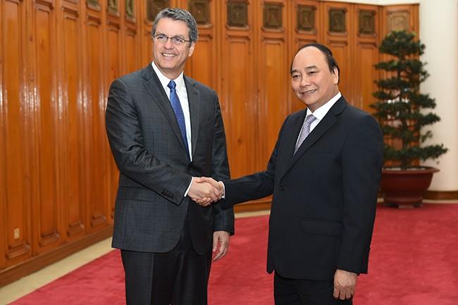 Tổng giám đốc Roberto Azevêdo: WTO quan tâm mục tiêu tăng trưởng của Việt Nam