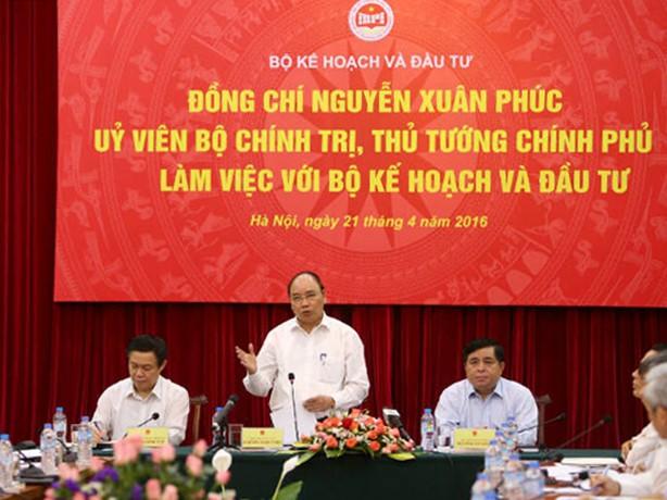 Thủ tướng yêu cầu Bộ Kế hoạch và Đầu tư cần có giải pháp dài hơi để tham mưu cho Chính phủ