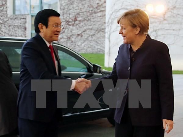 Thủ tướng Đức Angela Merkel khẳng định thúc đẩy sớm ký kết FTA Việt Nam-EU