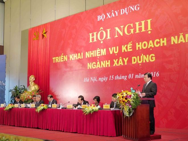 Bộ trưởng Trịnh Đình Dũng: một số công trình có chất lượng thấp