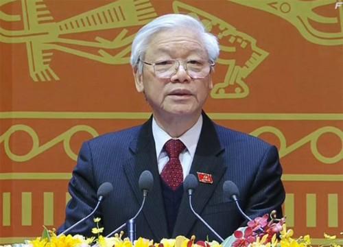 Tổng Bí thư Nguyễn Phú Trọng: Đại hội XII đã sáng suốt lựa chọn những đồng chí xứng đáng vào Trung ương
