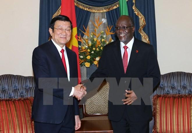 Chủ tịch nước Trương Tấn Sang hội đàm với Tổng thống Tanzania