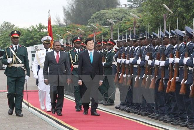 Chủ tịch nước Trương Tấn Sang bắt đầu chuyến thăm Cộng hoà Mozambique