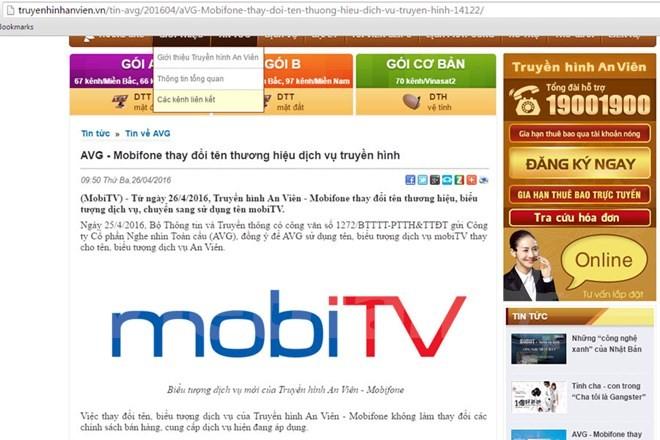 Truyền hình AVG chính thức đổi tên thành mobiTV