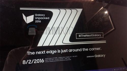 Galaxy Note 7 sẽ trình làng ngày 2/8