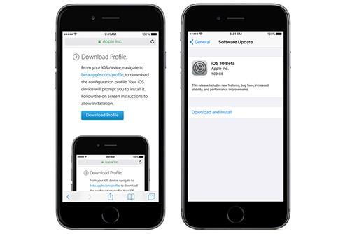 Cài đặt iOS 10 Beta trên iPhone và iPad