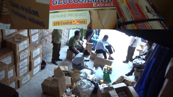 Lượng thực phẩm chức năng nghi giả bị tạm giữ lên tới hàng chục ngàn sản phẩm