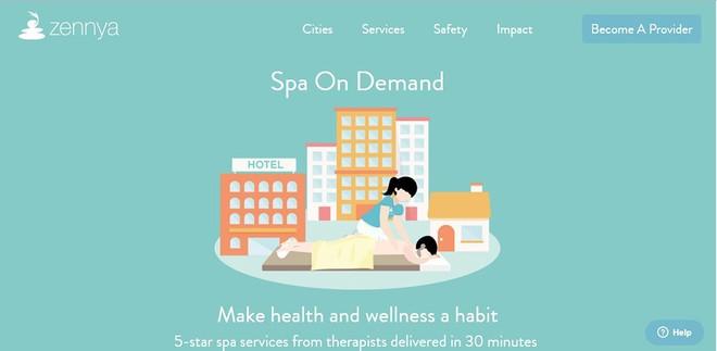 Start-up cung cấp dịch vụ massage đến tận nhà