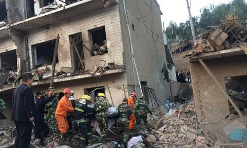 Nổ phá hủy hàng chục tòa nhà ở Trung Quốc
