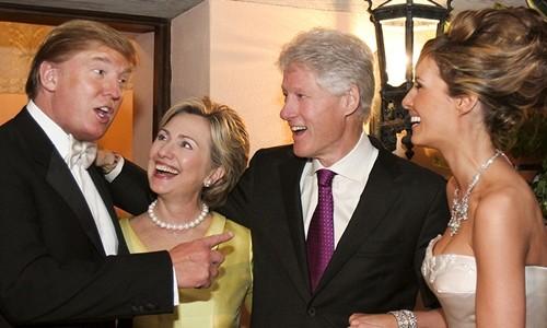 """Trò chơi vương quyền nhìn từ thời gian Trump và Clinton làm """"bạn"""""""