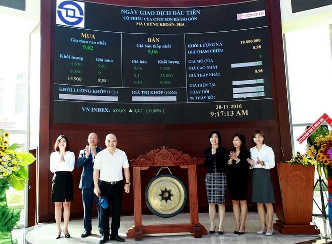 Cổ phiếu SHA tăng nhẹ ngày chào sàn HOSE