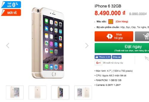 iPhone 6 đua giảm giá với điện thoại Android ở Việt Nam