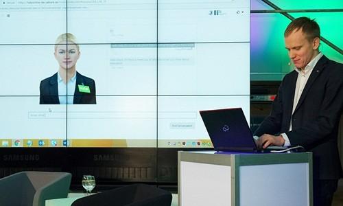 Nhân viên robot ở ngân hàng Thụy Điển