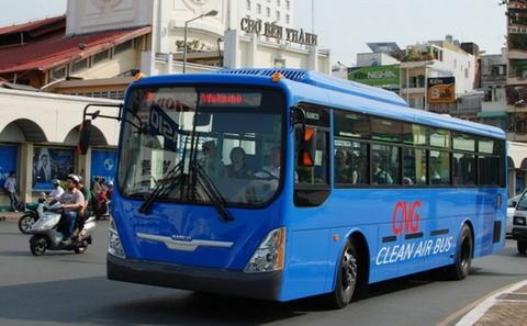 TP. HCM khai trương tuyến xe buýt sử dụng nhiên liệu sạch