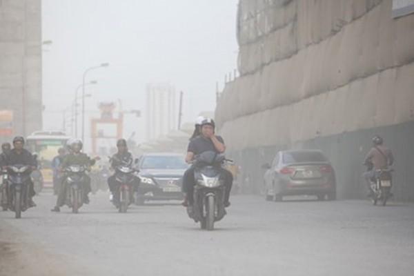 Bụi mịn đe dọa cư dân Hà Nội và TP. HCM