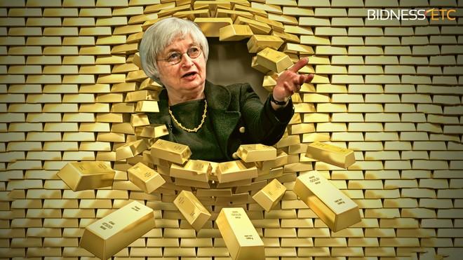 """Vàng lặng sóng trước """"cơn bão lớn"""" của Fed"""