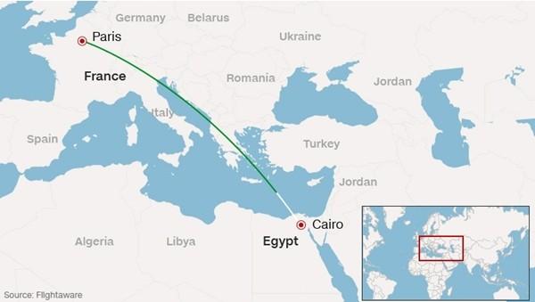 Máy bay chở 66 người của EgyptAir mất tích, có thể đã rơi xuống biển