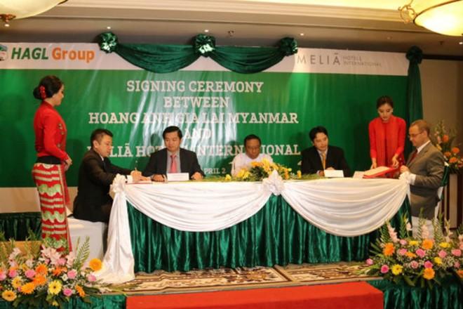HAG ký hợp đồng quản lý khách sạn tại Myanmar với Melia