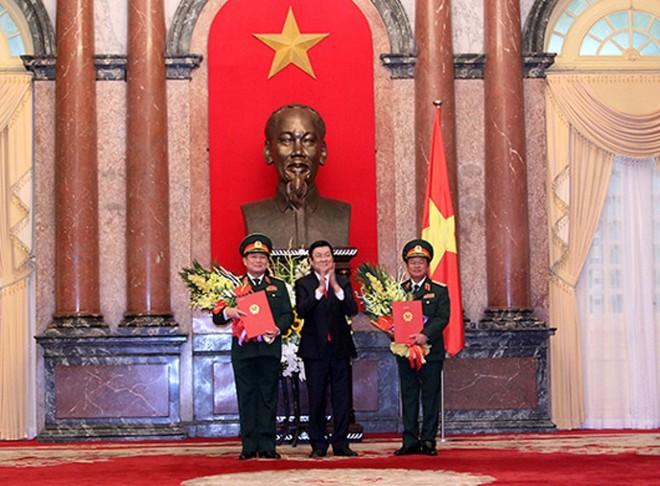Bộ Quốc phòng có thêm 2 đại tướng và 4 Thứ trưởng